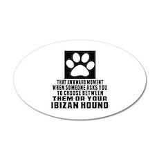 Ibizan Hound Awkward Dog Des Wall Decal