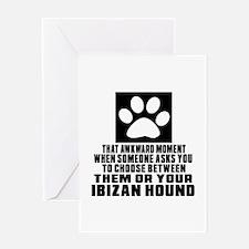 Ibizan Hound Awkward Dog Designs Greeting Card