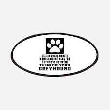 Greyhound Awkward Dog Designs Patch