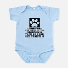 Greater Swiss Mountain Dog Awkward Infant Bodysuit