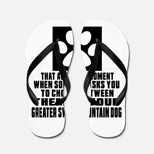 Greater Swiss Mountain Dog Awkward Dog Flip Flops