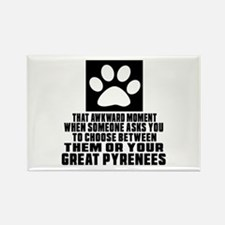 Great Pyrenees Awkward Dog Design Rectangle Magnet