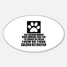 Golden Retriever Awkward Dog Design Decal