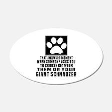 Giant Schnauzer Awkward Dog Wall Decal