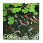 Koi Pond Tile Coaster