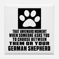 German Shepherd Awkward Dog Designs Tile Coaster