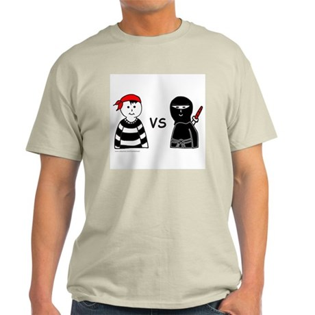 PIRATE VERSUS NINJA Light T-Shirt