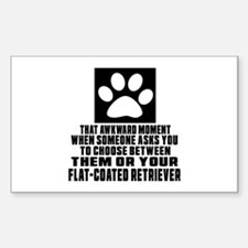 Flat-Coated Retriever Awkward Decal