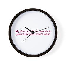 Sacred Cow Wall Clock