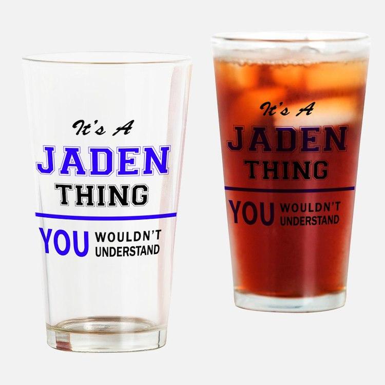 Cute Jaden Drinking Glass