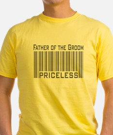 Father of the Groom Priceless Ash Grey T-Shirt