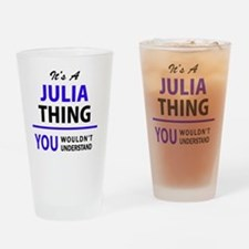Cute Julia Drinking Glass