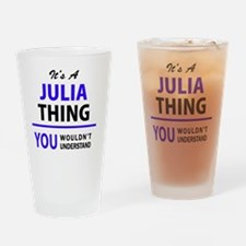 Funny Julia Drinking Glass