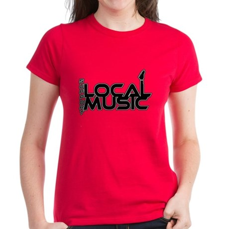 Support local music Women's Dark T-Shirt