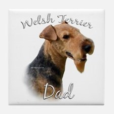 Welsh Terrier Dad2 Tile Coaster