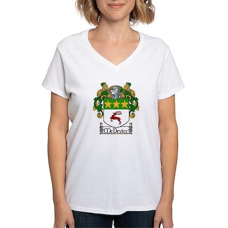 McDevitt Coat of Arms Women's V-Neck T-Shirt