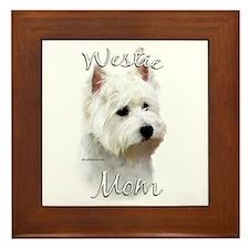 Westie Mom2 Framed Tile