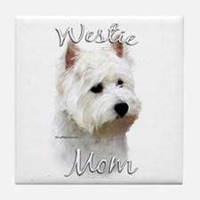 Westie Mom2 Tile Coaster