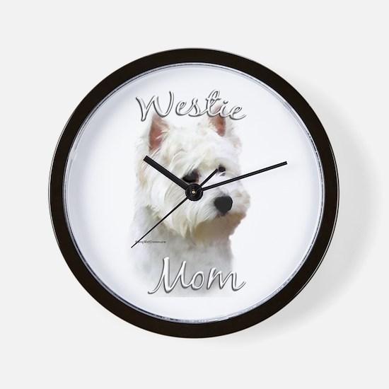 Westie Mom2 Wall Clock