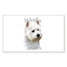 Westie Mom2 Rectangle Decal