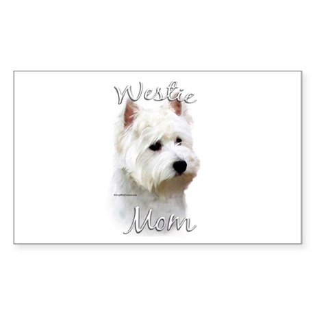 Westie Mom2 Rectangle Sticker
