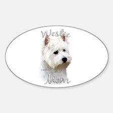 Westie Mom2 Oval Decal