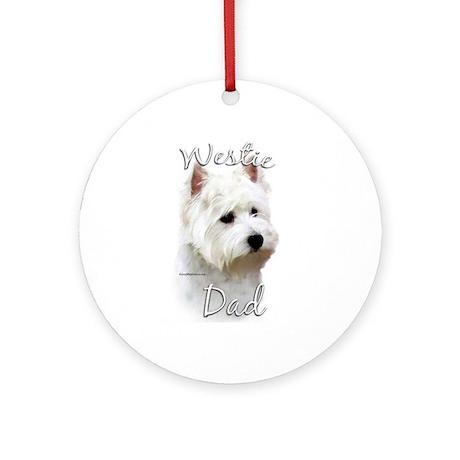 Westie Dad2 Ornament (Round)