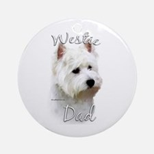 Westie Dad2 Ornament (Round)