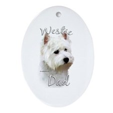 Westie Dad2 Oval Ornament
