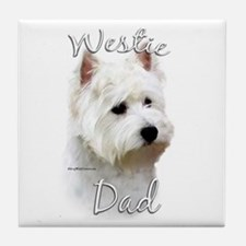 Westie Dad2 Tile Coaster