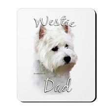 Westie Dad2 Mousepad