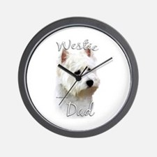 Westie Dad2 Wall Clock