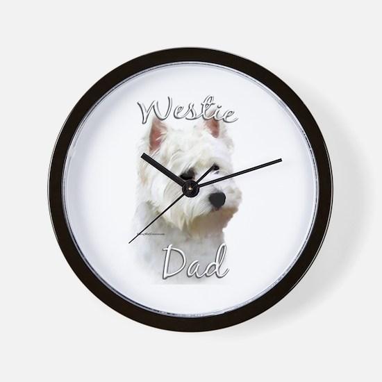 Westie Dad2 Wall Clock