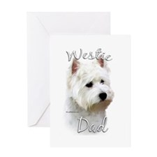 Westie Dad2 Greeting Card