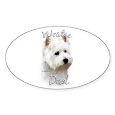 Westie Dad2 Oval Decal