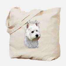 Westie Dad2 Tote Bag