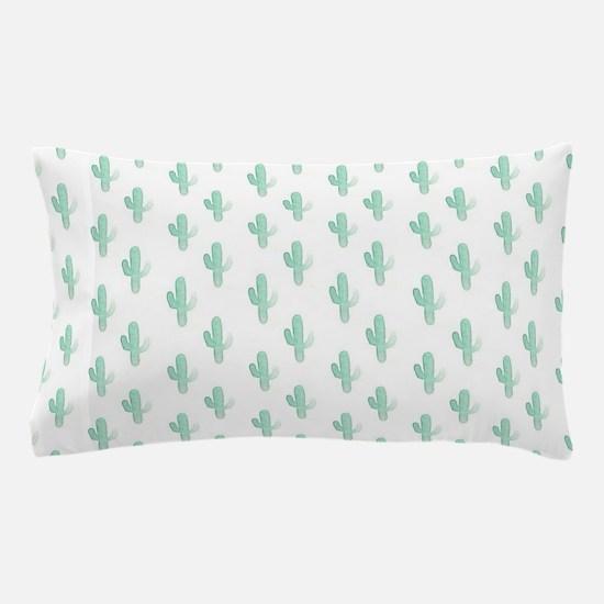 Watercolor Cactus Pattern Pillow Case