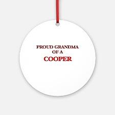 Proud Grandma of a Cooper Round Ornament