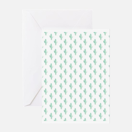 Watercolor Cactus Pattern Greeting Cards