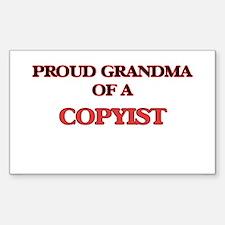 Proud Grandma of a Copyist Decal