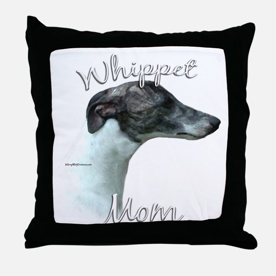 Whippet Mom2 Throw Pillow