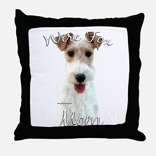 Wire Fox Mom2 Throw Pillow
