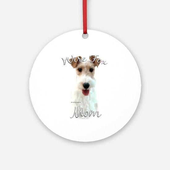 Wire Fox Mom2 Ornament (Round)