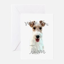 Wire Fox Mom2 Greeting Cards (Pk of 20)