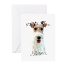 Wire Fox Mom2 Greeting Cards (Pk of 10)