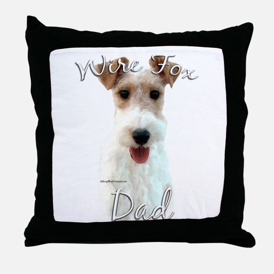 Wire Fox Dad2 Throw Pillow