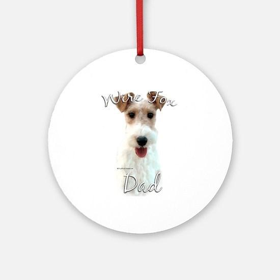 Wire Fox Dad2 Ornament (Round)