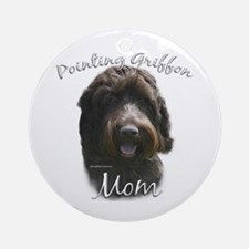 Griffon Mom2 Ornament (Round)