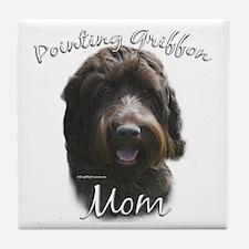 Griffon Mom2 Tile Coaster