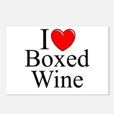 """""""I Love (Heart) Boxed Wine"""" Postcards (Package of"""